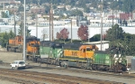 BNSF 3534, 8040, 7250, and Others in Balmer Yard